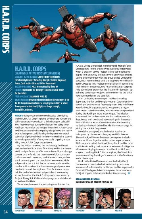 Power Mimicry-H.A.R.D. Corps-Valiant Universe Handbook FCBD (2014)