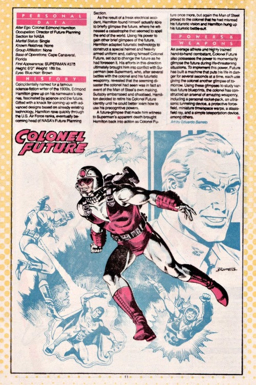 Precognition-Colonel Future- DC Who's Who #5