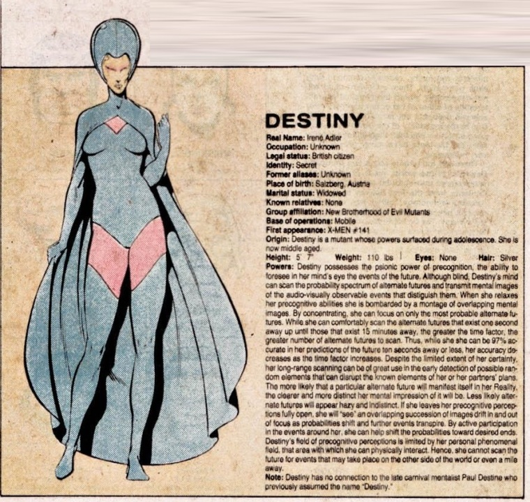 Precognition-Destiny-Official Handbook of the Marvel Universe V1 #3