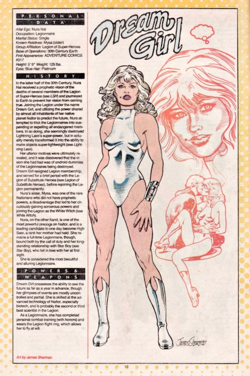 Precognition-Dream Girl-DC Who's Who V1 #7