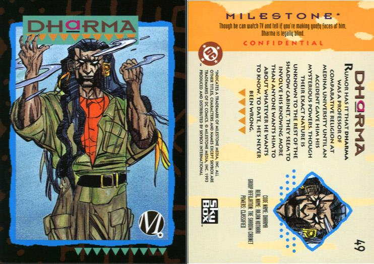 Psychometry-Dharma-Milestone Media Universe Card Set
