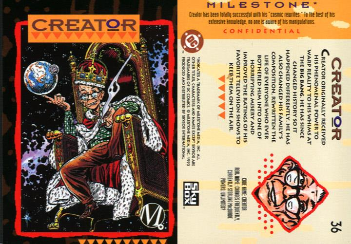 Reality Warping-Creator-Milestone Media Universe Card Set