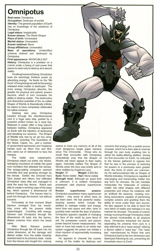 Reality Warping-Omnipotus-Official Handbook of the Invincible Universe #2