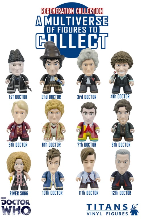 Regeneration-Doctor Who-Titans Vinyl Figures Regeneration Collection