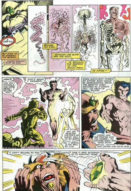 Regeneration–Wolverine-Uncanny X-Men Annual #11 (Marvel)