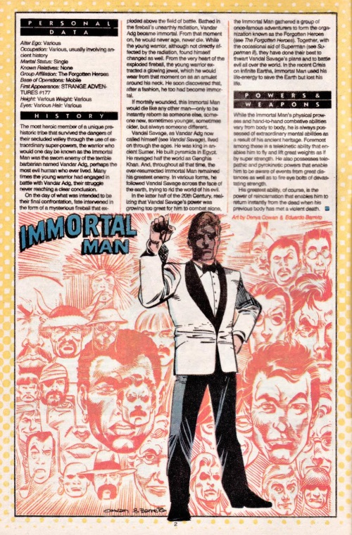 Reincarnation (self)-Immortal Man-Who's Who #11 (DC)