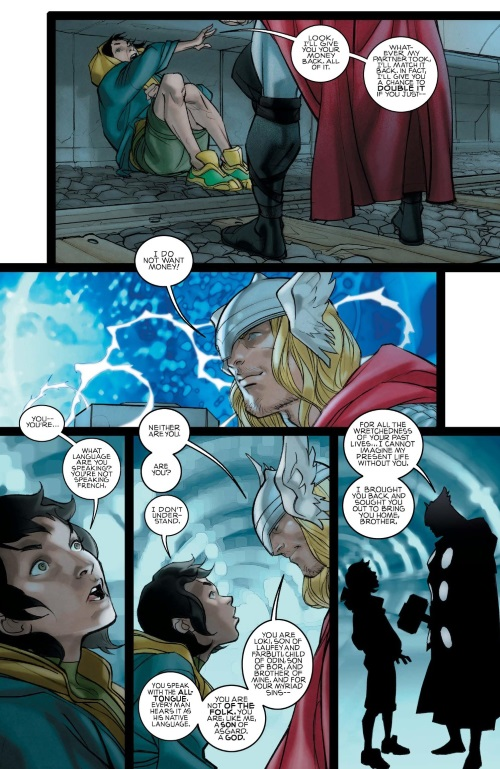 Reincarnation (self)–Loki Reincarnated as French card shark-Thor #617 (Marvel)
