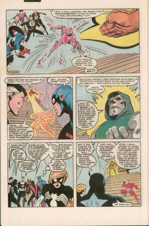 Resurrection (others)–Doctor Doom-Secret Wars I #11 (Marvel)