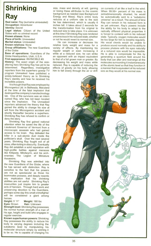 Size Reduction (self)-Shrinking Ray-Official Handbook of the Invincible Universe #2