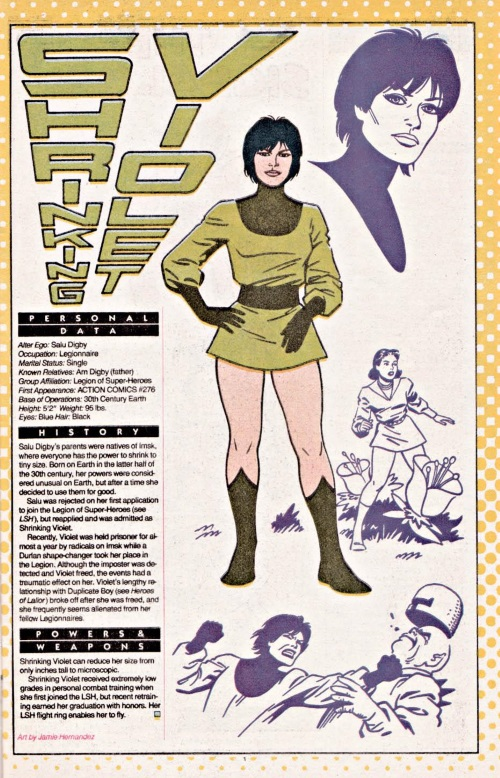 Size Reduction (self)-Shrinking Violet-DC Who's Who #21