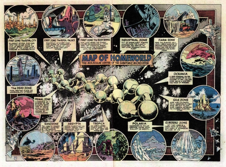 Size Reduction (self)–Microverse Map-Micronauts V1 #24 (1980) - Page 24