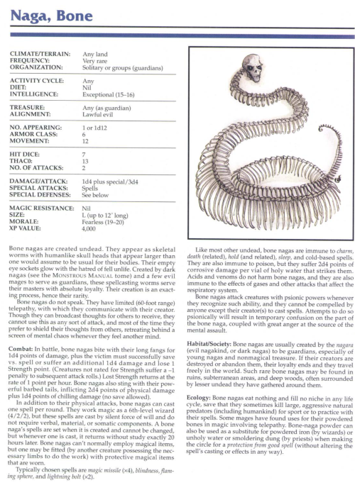 skeleton-mimicry-naga-bone-tsr-2145-monstrous-compendium-annual-volume-1