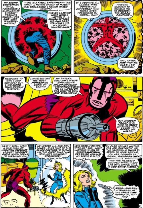 Sound Mimicry–Klaw-Fantastic Four #56 (1966) (DC)