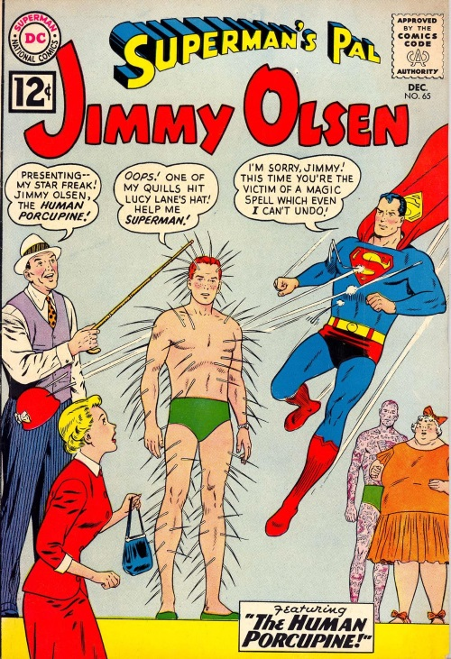 Spike Portrusion-Jimmy Olsen as Human Porcupine-Superman's Pal #65