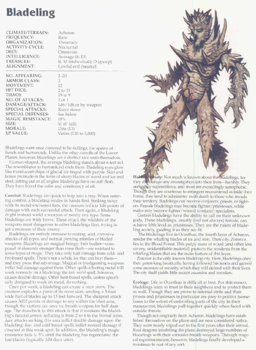 spike-protrusion-bladeling-tsr-2166-monstrous-compendium-annual-volume-3