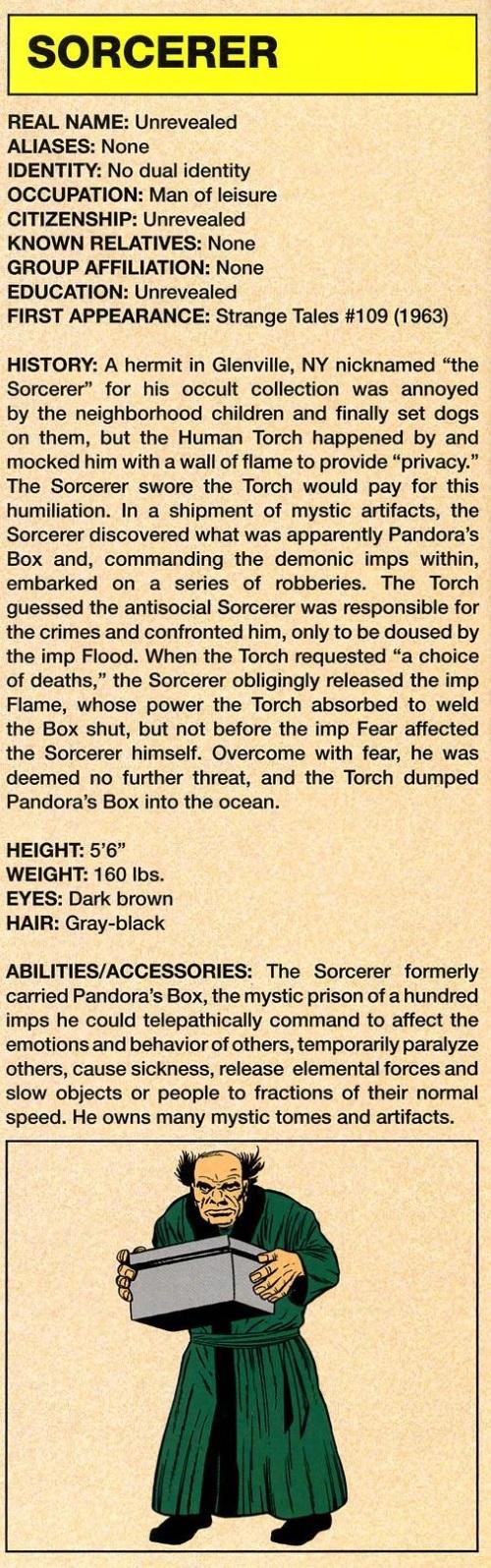 Summoning-Sorcerer-Marvel Legacy The's Handbook #1 (1960)