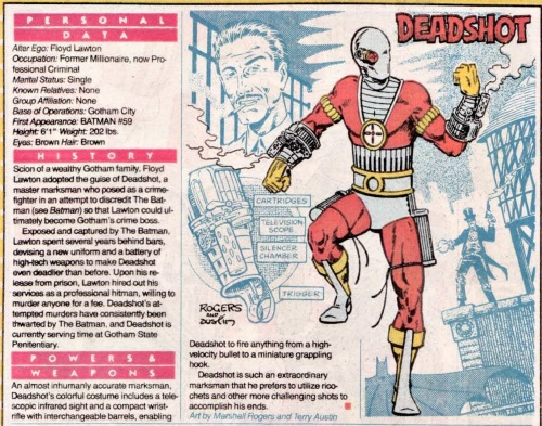 Superhuman Accuracy-Deadshot-DC Who's Who V1 #6