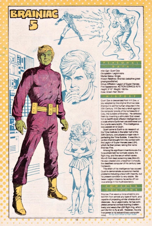 Superhuman Intelligence-Brainiac 5-Who's Who #3 (DC)