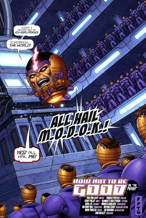 Superhuman Intelligence–MODOK-Super-Villain Team-Up Modok's 11 #5-23
