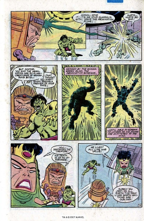 Superhuman Intelligence–Ms MODOK-The Incredible Hulk V1 #290-2