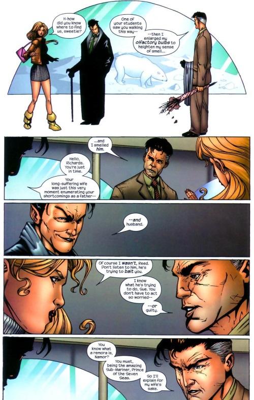 Superhuman Senses (smell)-Mr. Fantastic-Marvel Knights 4 #8