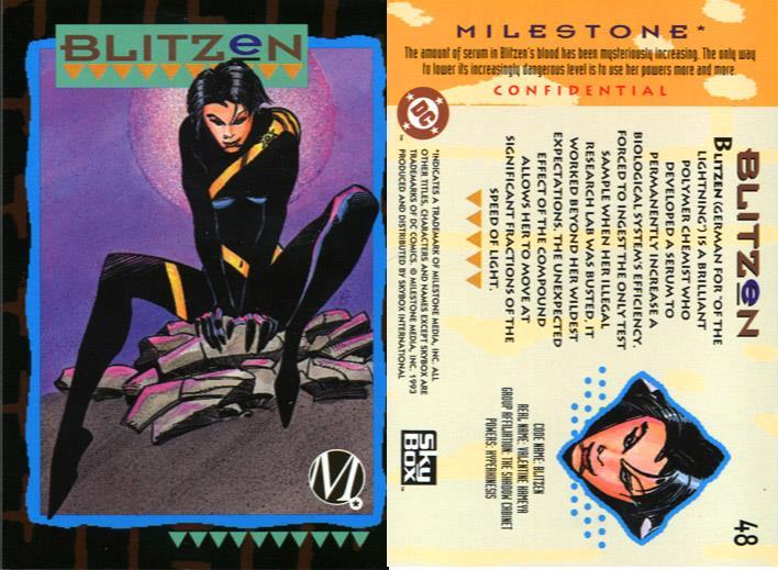 Superhuman Speed-Blitzen-Milestone Media Universe Card Set