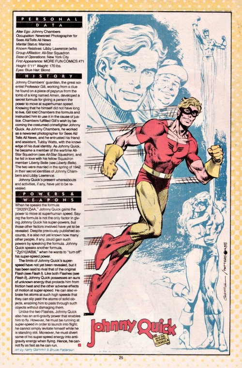 Superhuman Speed-Johnny Quick-DC Who's Who #11