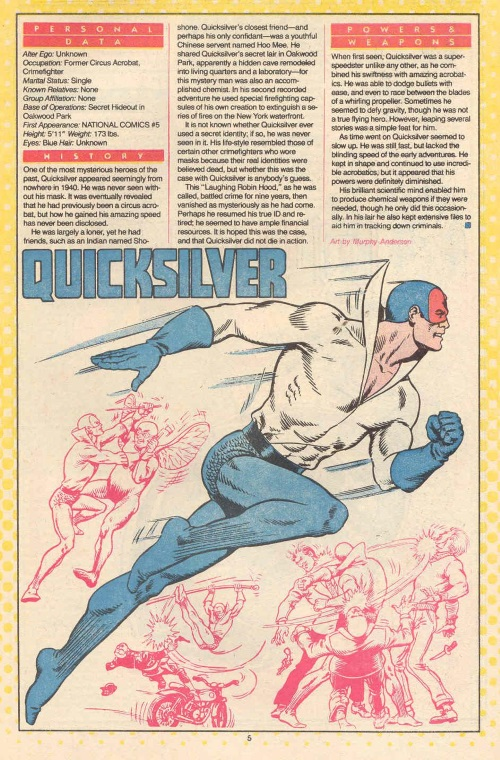 Superhuman Speed-Quicksilver-DC Who's Who #19