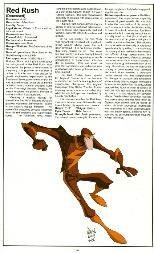 Superhuman Speed-Red Rush-Official Handbook of the Invincible Universe #2
