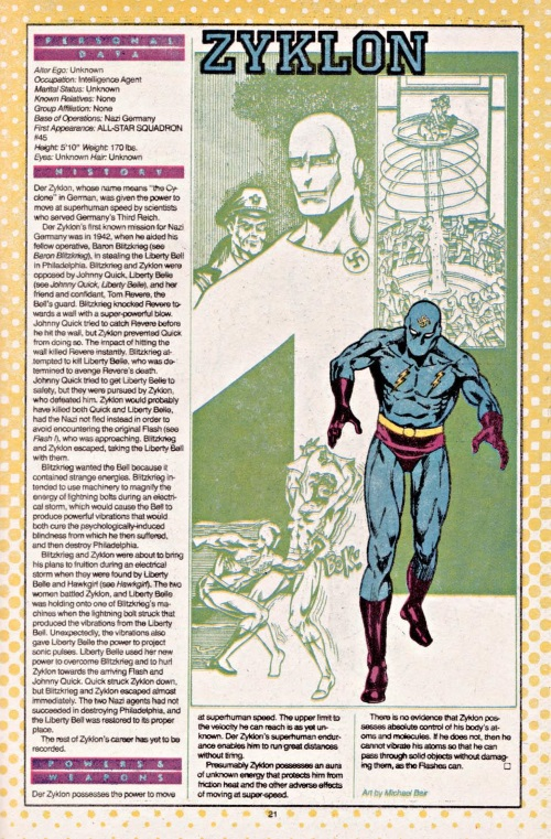 Superhuman Speed-Zyklon-DC Who's Who #26