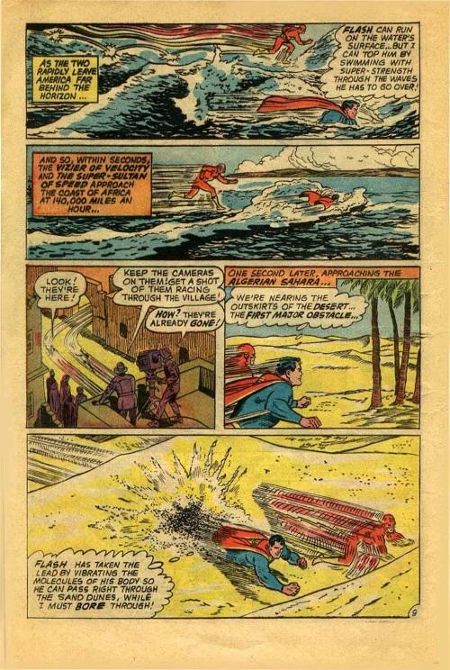 Superhuman Speed–Flash vs Superman-Superman V1 #199