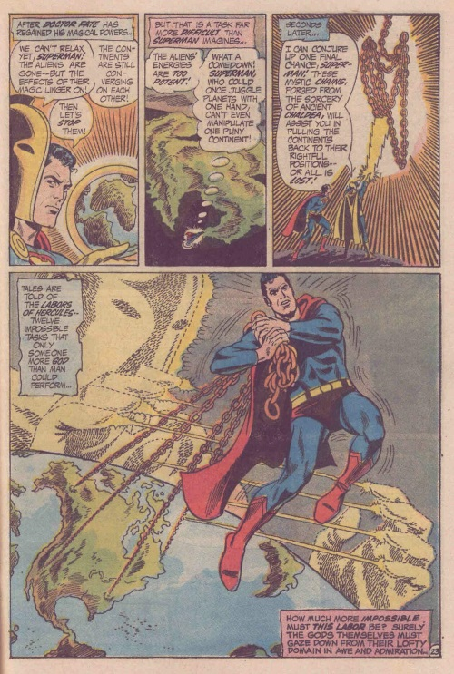 Superhuman Strength–Superman-World's Finest Comics #208 (1971)