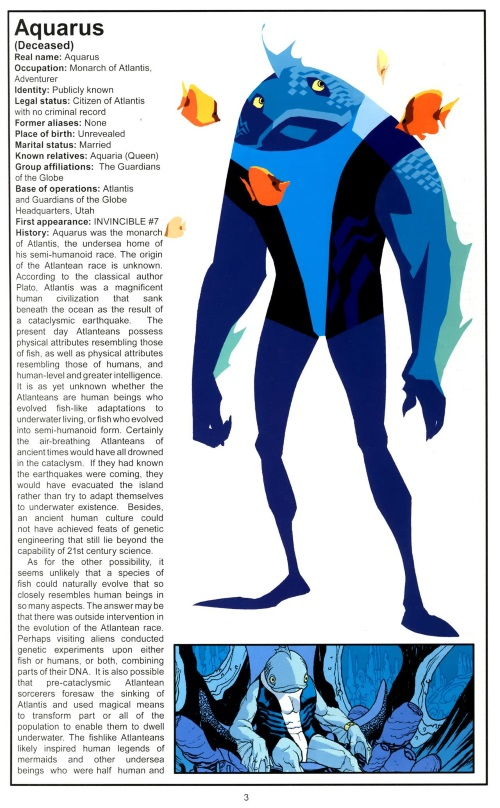 Superhuman Swimming-Aquarus-Official Handbook of the Invincible Universe #1-5