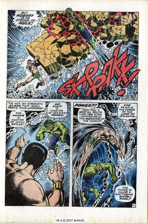 Superhuman Swimming-Incredible Hulk V1 #118-17
