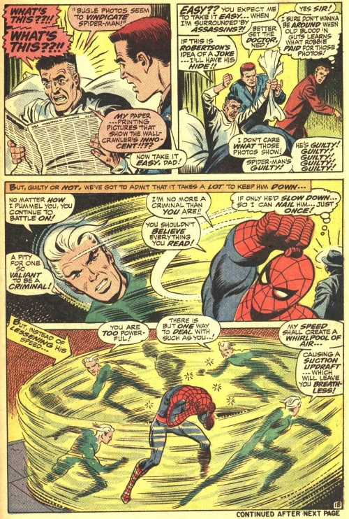 Superhuman Swimming–Amazing Spider-Man V1 #71