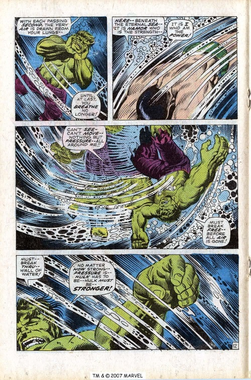 Superhuman Swimming–Incredible Hulk V1 #118-18