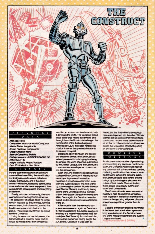 Technomimicry-The Construct-Who's Who #5 (DC)