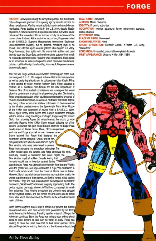 Technopathy-Forge (Marvel)-All-New OHOTMU A to Z #4