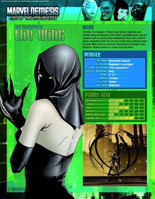 Teleport (self)-The Wink-Marvel Nemesis - Rise of The Imperfects Official Game Guide