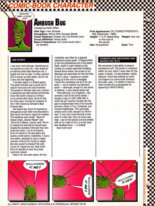 Teleportation (self)-Ambush Bug-Who's Who in the DC Universe #16