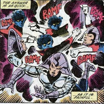 Teleportation (self)–Nightcrawler (Marvel)