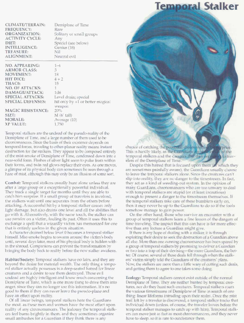 time-manipulation-temporal-stalker-tsr-2166-monstrous-compendium-annual-volume-3