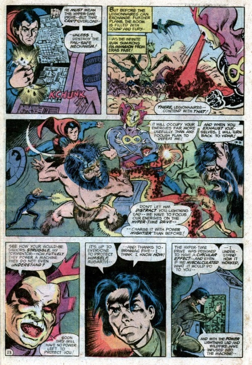 Time Travel (others)–Infinite Man-Superboy and the Legion of Super-Heroes #233-24