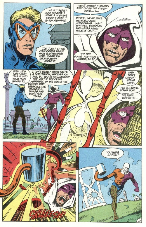 Time Travel (others)–Time Commander-Animal Man V1 #16