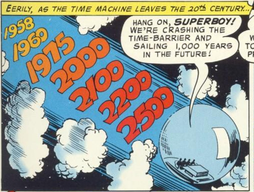 Time Travel (self)-device-Legion of Superheroes-Time Bubble (DC)