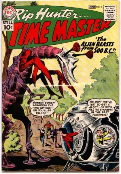 Time Travel (self)-device-Rip Hunter Time Master V1 #2 (DC)