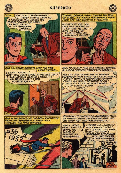 Time Travel (self)-person-Lincoln-Superboy V1 #85