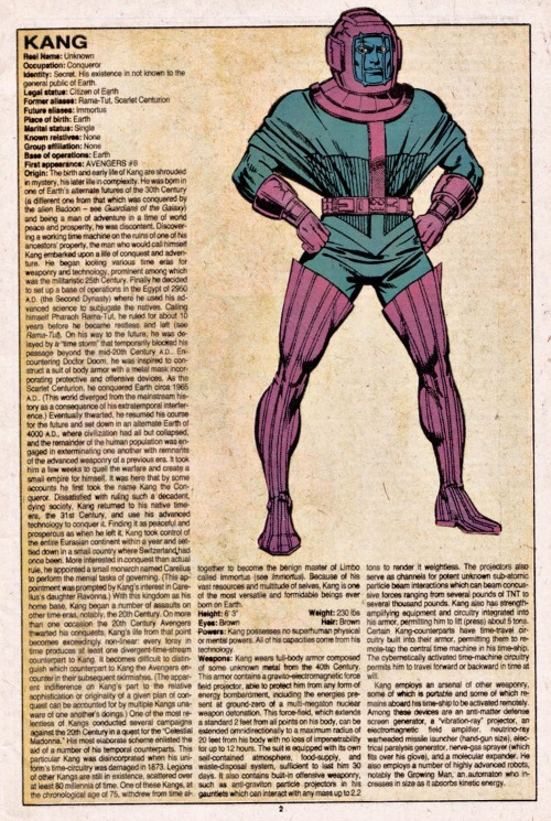 Time Travel (self)–person-Kang-Official Handbook of the Marvel Universe V1 #6
