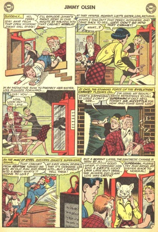 Transmutation (animal)-Lois Lane turned into cat- Jimmy Olsen V1 #66