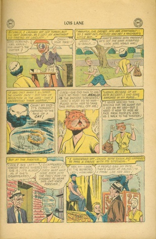 Transmutation (animal)-Lois Lane turned into cat-Lois Lane V1 #11